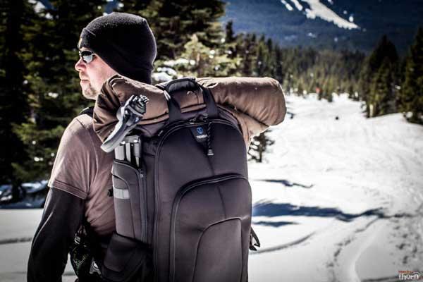 Ryan testing out Tenba backpack -- Indie Cinema Academy