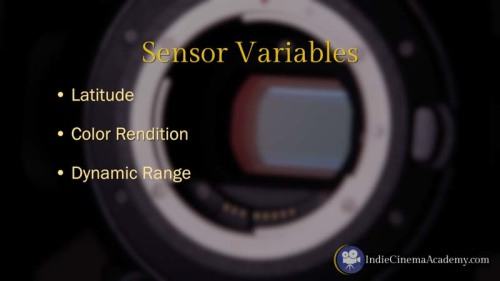 Sensor Variables on Digital Video Cameras