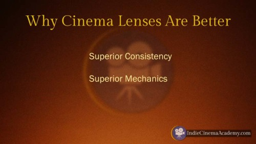 Why Cinema Lenses Are Better (Camera Lesson 09)