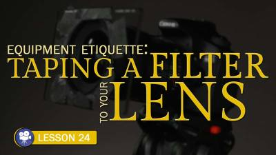 Taping a Filter to a Lens (Camera Lesson 24)