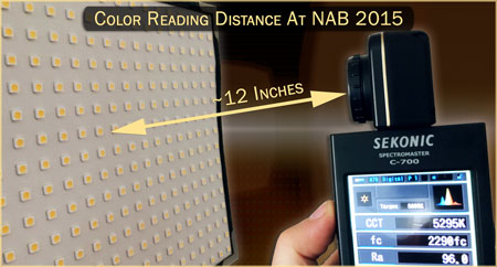 Light Reading Distance at NAB 2015 (LED Database)