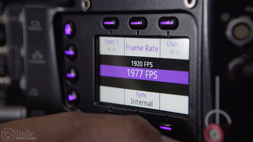 Phantom Flex 4K Frame Rate Options (CS001)