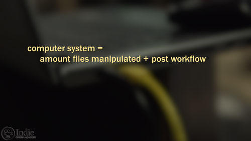 Your computer system depends on your workflow and type of files (CS006)