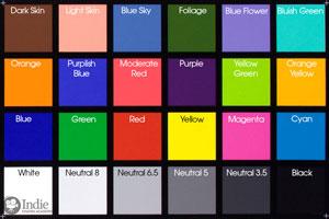 MacBeth Chart (X-Rite Color Checker) Used for TLCI