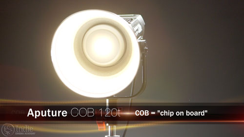 Aputure COB 120t is tungsten balanced