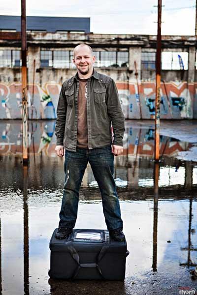Ryan standing on Tenba Air Case -- Indie Cinema Academy