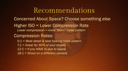 Red Epic Dragon vs Red Epic MX: Compression Test: Recommendations