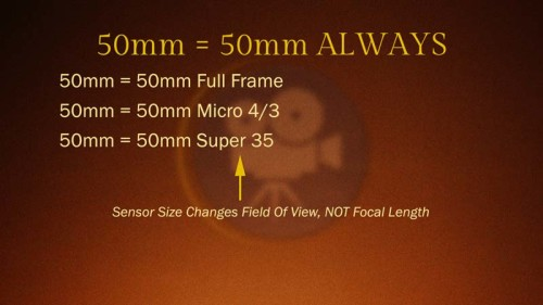 Sensor Size Changes Field of View, Not Focal Length