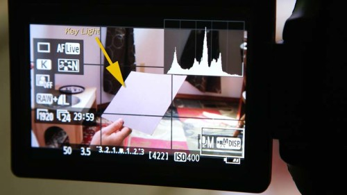 Placing 18% Gray Card - (Camera Lesson 30) [VIDEO SCREENGRAB]