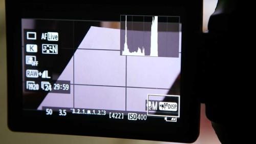 Placing 18% Gray Card to fill screen- (Camera Lesson 30) [VIDEO SCREENGRAB]