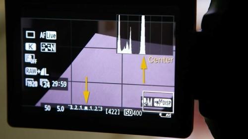Placing 18% Gray Card creates peak on histogram- (Camera Lesson 30) [VIDEO SCREENGRAB]