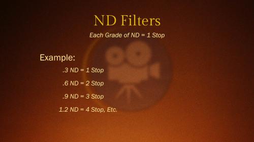 ND Filter Grades - Camera Lesson 17