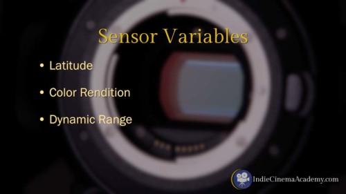 Sensor Variables on Digital Video Cameras