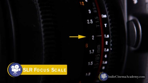 SLR Lens Focus Scale (Camera Lesson 09)