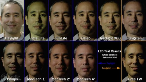 Summary of Skin Tones From All LED Lights (AR015)