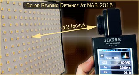 Light Reading Distance at NAB 2015 (LED Database)
