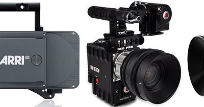 ARRI Alexa, RED Epic, Blackmagic