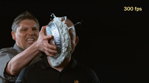 Pie in the face at 300 fps (CS005)