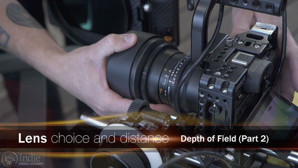Lens choice and distance affect depth of field