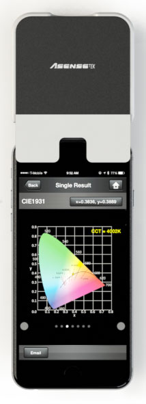 Lighting Passport Spectrometer With IPhone